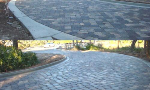 Round-a-bout Pavers Finished